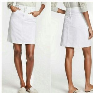 Ann Taylor white denim skirt size 6p new with tags
